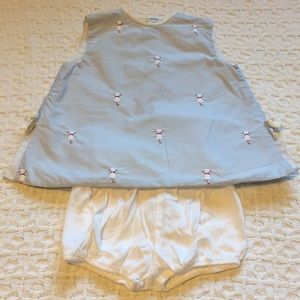 Sylvia Whyte Sz Baby L baby bl top w/cats & pants